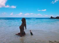 Alena Filinkova in a bikini