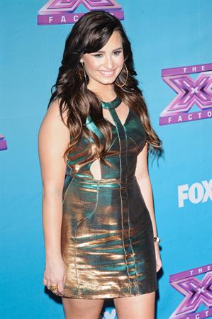 Demi Lovato The X Factor season finale results show in LA 12/20/12