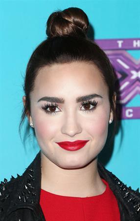 Demi Lovato The Factor finalists party in LA 11/5/12