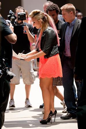 Demi Lovato -  The X Factor  season 2 auditions in Greenscoro, North Carolina (July 8, 2012)