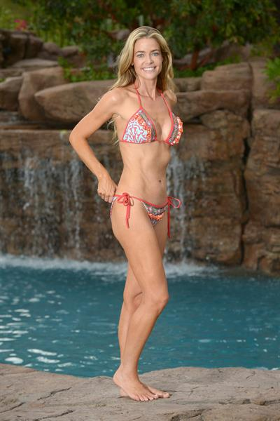 Denise Richards posing poolside in Los Angeles - November 14, 2012