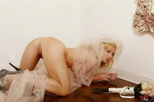 Kayden Kross in a wedding veil