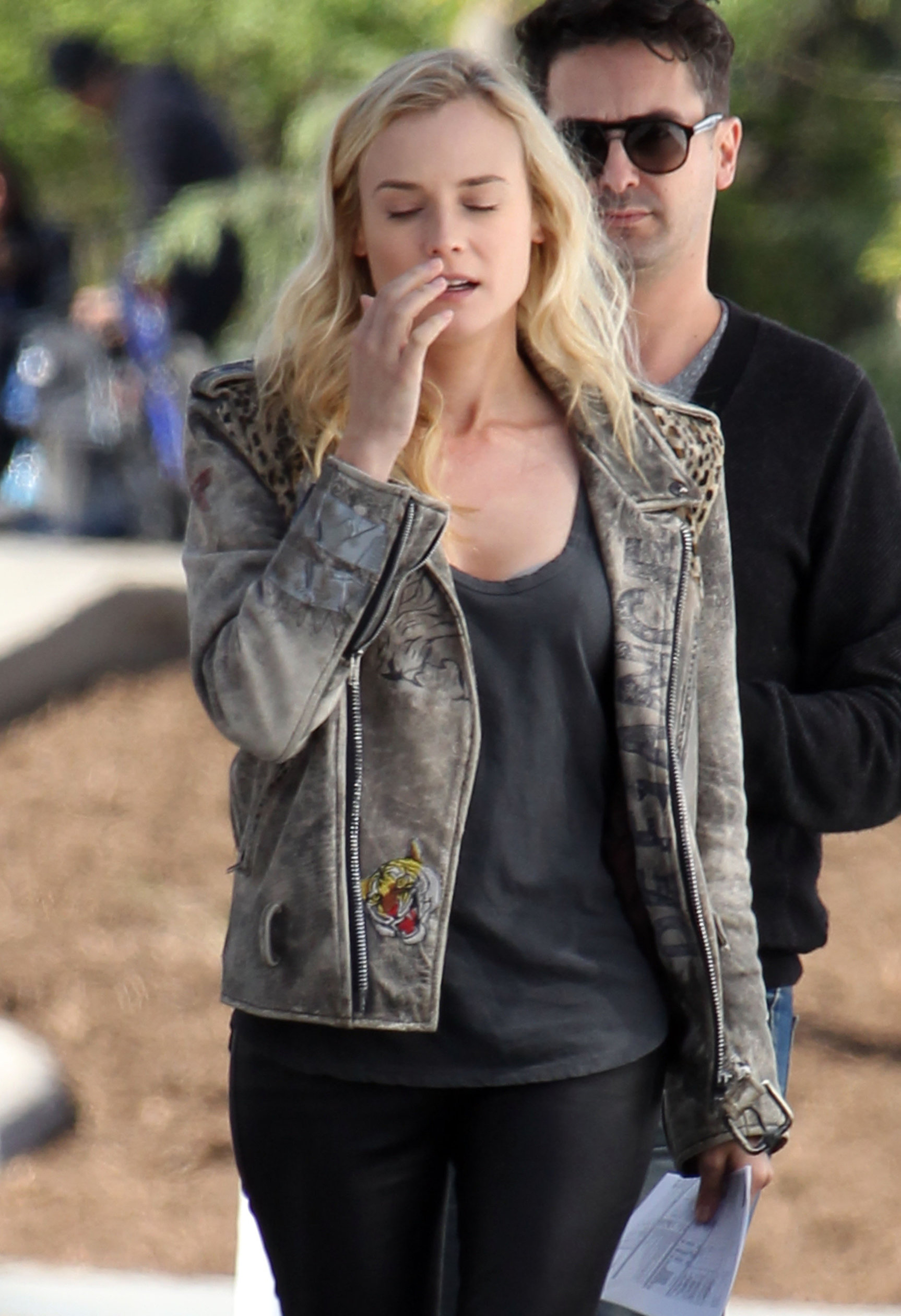 diane kruger on the set of her new movie the bridge in