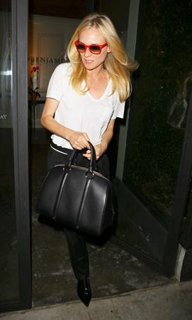 Diane Kruger leaving the salon in Beverly Hills December 5, 2012