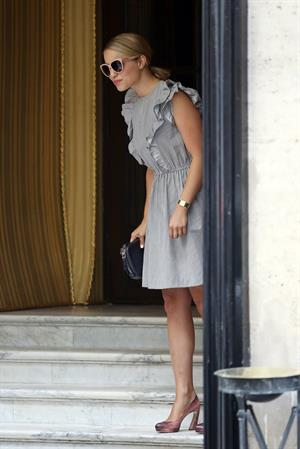 Dianna Agron - Spotted out shopping in Paris - August 4, 2012