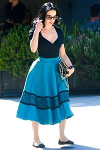 Dita von Teese Spotted on the streets of Los Angeles (November 4, 2012)