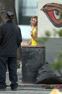 Elizabeth Banks on the set of 'Walk Of Shame' in Los Angeles 1/16/13
