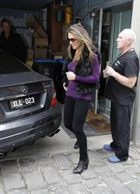 Elizabeth Hurley Visits a dentist in Melbourne - August 21, 2012