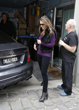 Elizabeth Hurley Visits a dentist in Melbourne - August 21, 2012