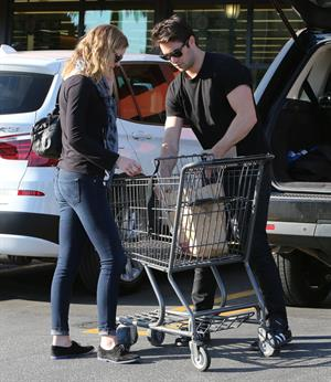 Emily VanCamp shops at Gelson's in Los Feliz 2/22/13