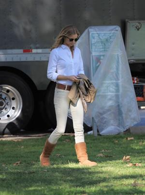 Emily VanCamp Set of Revenge in Los Angeles - October 31, 2012