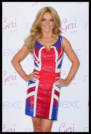 Geri Halliwell Union Jack collection on February 2, 2012