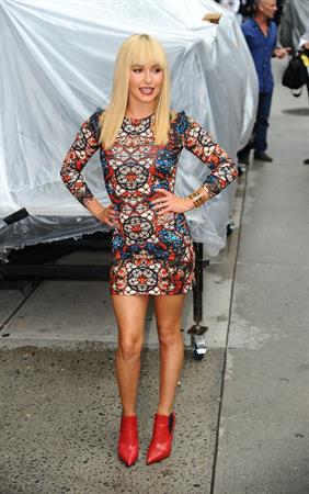 Hayden Panettiere - The Late Show arrival 8/28/13