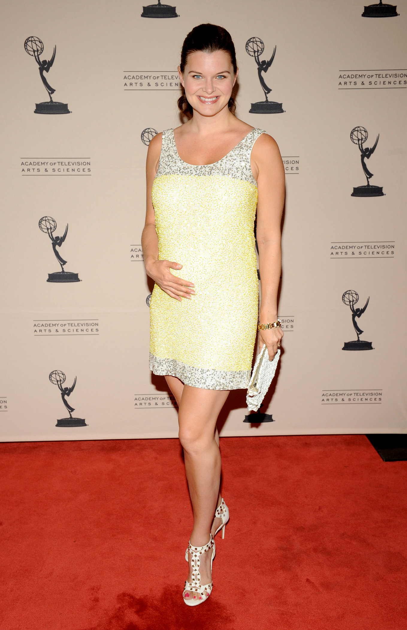 Heather Tom attends the 39th annual daytime Emmy Awards nominees reception at SLS Hotel on June 14, 2012 in Beverly Hills, California