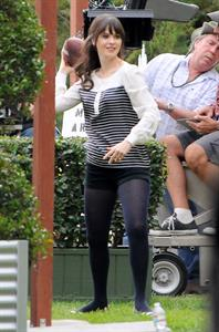 Zooey Deschanel  New Girl  set candids in LA 1/23/13
