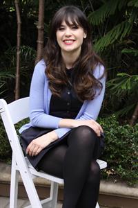 Zooey Deschanel New Girl press con portraits by Vera Anderson 10/10/12