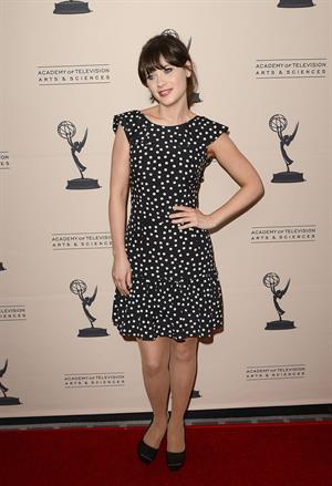 Zooey Deschanel - The Academy of Television Arts & Sciences Performers Peer Group Cocktail Reception in Universal City - Aug 20, 2012