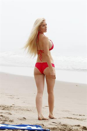Heidi Montag Spends some time on the beach in Santa Monica (November 8, 2012)  (bikini)