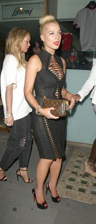 Helen Flanagan FHM Sept issue launch at Whisky Mist nightclub in London 7/30/13