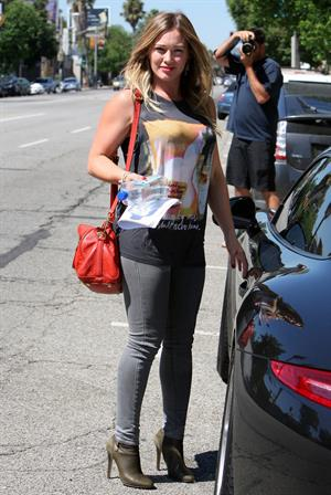 Hilary Duff in Sherman Oaks 9/16/13
