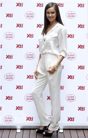 Irina Shayk launches the new TI Footwear Line in Madrid - May 10, 2013