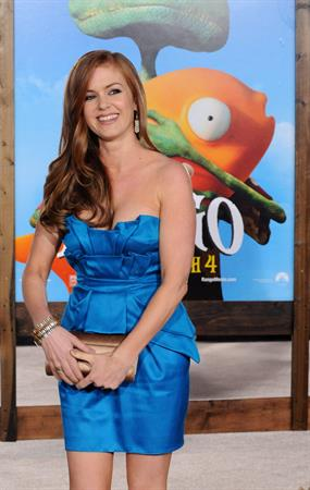 Isla Fisher Rango Los Angeles premiere on February 14, 2011