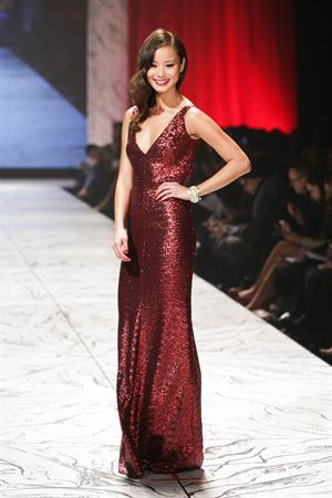 Jamie Chung The Heart Truth 2013 Fashion Show, Feb 6, 2013