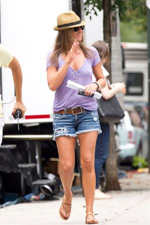 Jennifer Aniston on  Squirrels to the Nuts  set 7/23/13