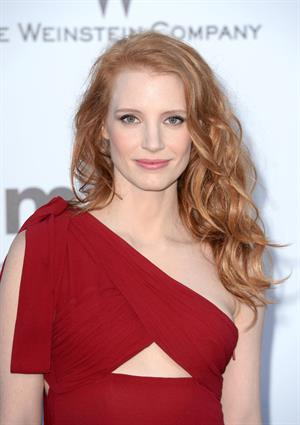 Jessica Chastain at amfAR's 20th Annual Cinema Against AIDS in Cannes - May 23, 2013