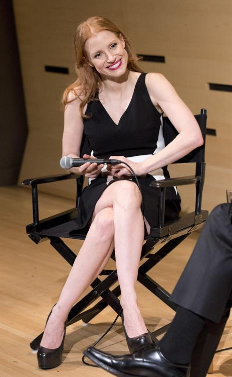 Jessica Chastain 'A Conversation with Jessica Chastain' Event in New York - February 8, 2013