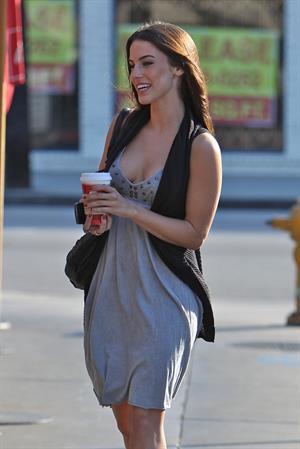 Jessica Lowndes leaving Toast restaurant November 9 2010