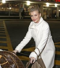 Joanna Krupa arriving at Chicago Airport on December 24, 2012