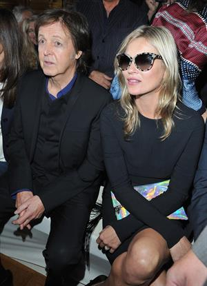 Kate Moss in attendance for Stella McCartney ready-to-wear during Paris Fashion Week on Oct 1, 2012