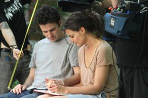 Katie Holmes Films  Mania Days  in Washington Square Park (May 21, 2013)