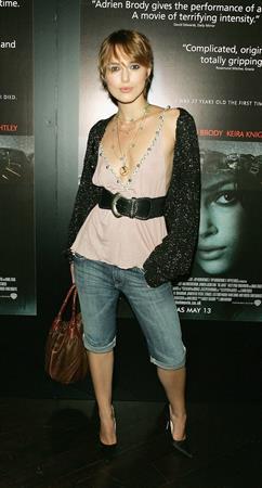 Keira Knightley -  The Jacket  UK screening 5/9/05