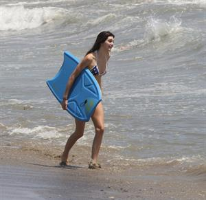 Kendall Jenner bikini candids in Malibu on July 4, 2013