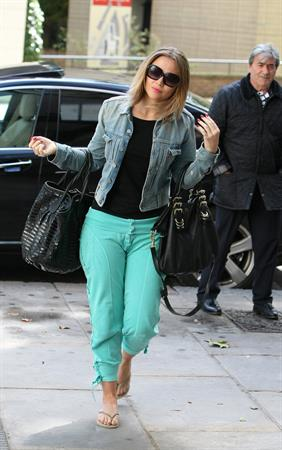 Kimberley Walsh  Arriving for rehearsals in central London - Sep 25, 2012