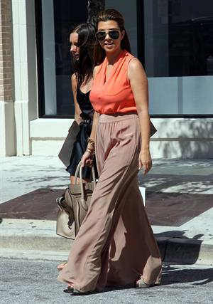Kourtney Kardashian Leaving Sugarcane Restaurant with Scott Disick after lunch in Miami (October 22, 2012)