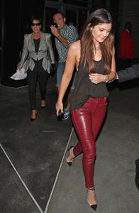 Kylie Jenner leaving Justin Bieber concert in Hollywood 10/2/12