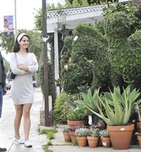 Lana Del Rey in short skirt in West Hollywood 10/11/12