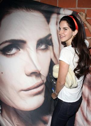 Lana Del Rey Ride music video premiere in Santa Monica 10/10/12