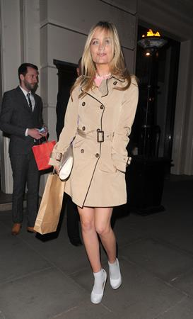Laura Whitmore - Arrives at the Comic Relief Red Nose Day Party in London on February 28, 2013