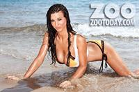 Alice Goodwin in a bikini