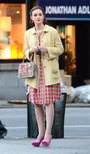 Leighton Meester - On the set of Gossip Girl in New York - August 28, 2012