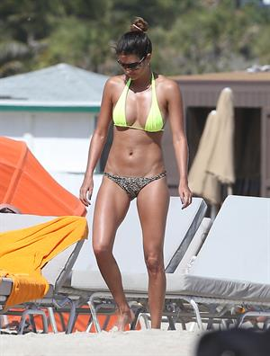 Leryn Franco bikini candids in Miami 11/12/12