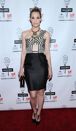 Leslie Bibb 28th Annual Lucille Lortel Awards in NYC 5/5/13