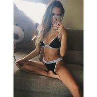 Paulina Mikolajczak in lingerie taking a selfie