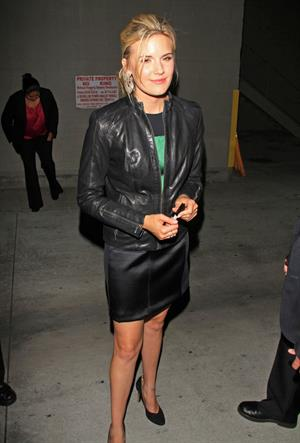 Maggie Grace  Greeting fans and signing autographs after filming a TV show in Hollywood - October 1, 2012