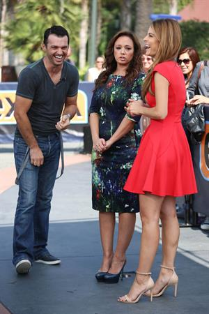 Maria Menounos on the set of Extra in LA on September 10, 2013