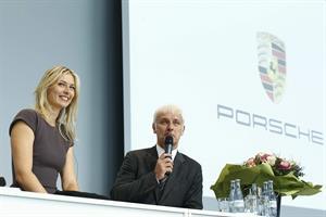 Maria Sharapova unveiled as Porsche's new brand ambassador in Stuttgart 4/22/13